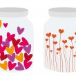 Canned hearts — Stock Vector