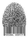 Barcode fingerprint, vector — Stock Vector