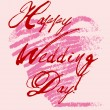 Happy weddings day — Vector de stock