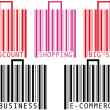 Barcode shopping bag and suitcase - Image vectorielle