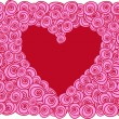 Red heart with roses - 
