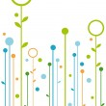 抽象的な花のデザイン — ストックベクタ