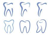 Denti vector — Vettoriale Stock