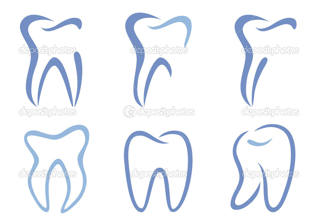 Set of abstract teeth, vector illustration — Stock Vector #3604789