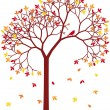 Colorful autumn tree — Imagen vectorial