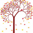 Royalty-Free Stock Vector Image: Colorful autumn tree