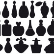 Perfume bottles, vector — Vector de stock