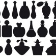 Perfume bottles, vector — Stockvectorbeeld