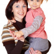 Happy mother with little daughter — Stock Photo