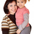 Happy mother with little daughter — Stockfoto #3367188