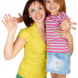 Happy mother with little daughter — Stockfoto #3367293