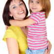 Happy mother with little daughter — Stockfoto #3372059