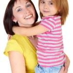小さな娘と一緒に幸せな母 — ストック写真