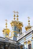 Golden cupola of Pushkin — 图库照片