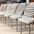 Stock Photo: White benches