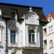 White historical house in Brno, Czech republic - Stockfoto
