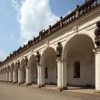 Colonnade in flower garden Kromeriz, Czech Republic — Stock Photo