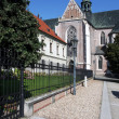 Building of Monastery at Mendel square in Brno, Czech Republic — Stock Photo