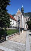 Building of Monastery at Mendel square in Brno, Czech Republic — Stock Photo