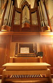 Old organ in perspective — Stock Photo