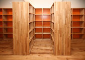 Wooden shelves — Stock Photo