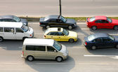 Many cars on the road — Stock Photo