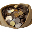 Bag with money 1 - Stock Photo