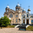 Verhoturie.Man's Piously-Nikolaev monastery — Stock Photo