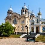 Verhoturie.Man's Piously-Nikolaev monastery — Stock Photo