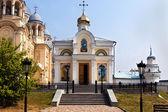 Man's Piously-Nikolaev monastery.Verhoturie — Stock Photo