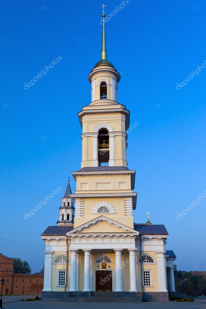 Nevyansk. Transfiguration Cathedral . Stone , pyatiprestolny , founded in 1824 by means of factory owners Yakovlev . From 1912 granted the status of the cathedr  Stock Photo #3624554