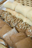 Various baked bread buns — Stock Photo