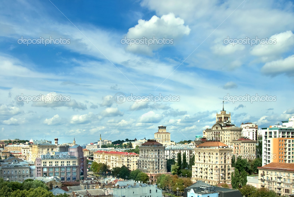 Kyiv center cityscape  Stock Photo #2761437