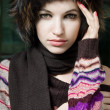 Стоковое фото: Winter portrait of young woman