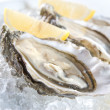 Stock Photo: Raw oysters