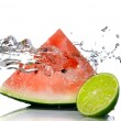 Watermelon with lime — ストック写真