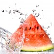 Stock Photo: Watermelon and water splash