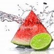 Watermelon and lime — Stock Photo