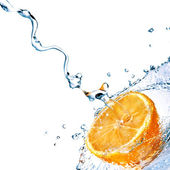 Sladké vody kapky orange — Stock fotografie