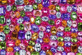 Various color shiny gems — Stock Photo