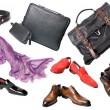 Shoes, accessories and bags - Stock Photo