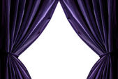 Violet curtains — Stock Photo