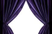 Cortinas violetas — Foto de Stock
