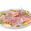 Stock Photo: Italian pizza with ham
