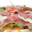 Italian pizza with ham and cheese - Stock Photo