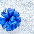 Blue bow from ribbon — Stock Photo