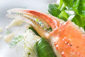 Salad with crab — Stock Photo