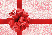 Red bow and ribbon — Stock Photo