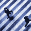Business crosswalk scene — Stock Photo