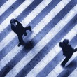 Business crosswalk scene - Stockfoto